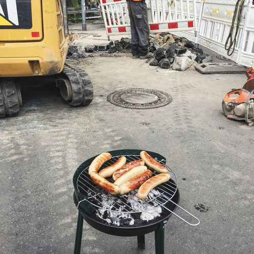 BBQ Building Site Baustelle Building Barbecue Grilling