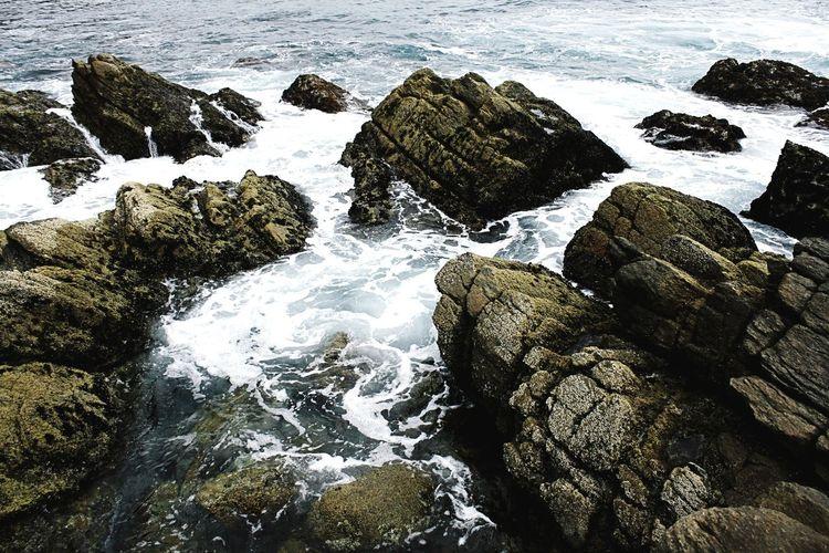 Rock Stone Rock Face Beach Rocks Beachphotography Wet Surf Fun Contrast Structured Awesome Interesting Rocks Depth Of Field Rocky Beach Beach Shore Sea No People Nature Sand Water High Angle View Outdoors Day Rock - Object Wave Beauty In Nature Close-up