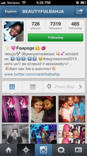 "Y'all go follow this ""Fanpage"" On Instagram. She got real love for One of the OMG GIRLZ. (Bahja)"
