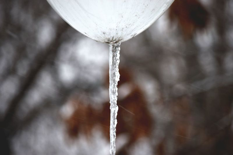 Drop Motion Close-up Water Leaking Focus On Foreground No People Flowing Cold Temperature Frozen Nature Day Outdoors