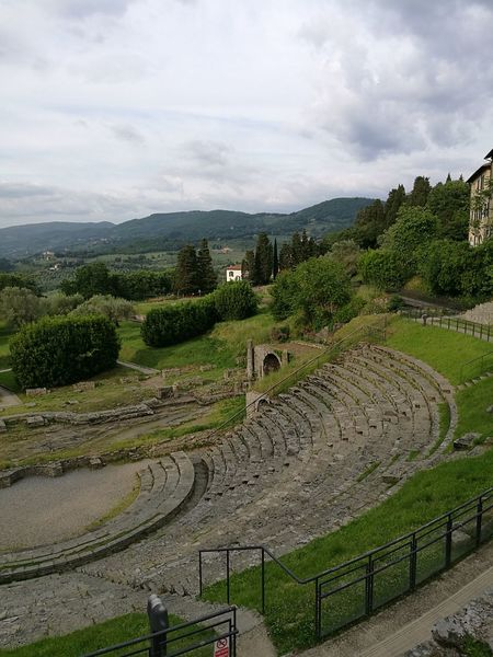 Outdoors No People Roman Ruins Anphitheater Landscape Nature History Historical Building Historical Site Archeological Site Fiesole Italy