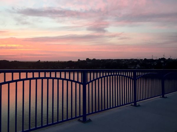 Sunset Sky Outdoors Bridge Water Nature Lake No People Scenics Cloud - Sky Beauty In Nature Silhouette