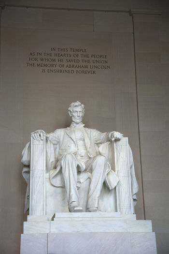 Abraham Lincoln Exterior Historical Lincoln Lincoln Memorial Marble No People Sky Statue Stone United States USA Washington, D. C. Washington, D.C.
