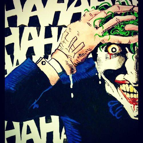 Joker TheKillingJoke the Killing Joke Comic Art by me Weekend Timepass TP Batman Comics DC Dccomics