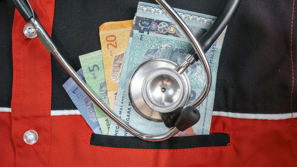 Helth Medical Equipment Consept And Ideas Helthychoice Money Moneymalaysia RinggitMalaysia Stethoscope  Black Pocket  Human Cloting Red