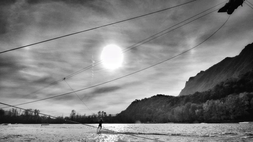 Fine Art Photography Wakepark Been There. Done That. Lost In The Landscape Breathing Space The Week On EyeEm EyeEm Selects Mix Yourself A Good Time Extreme Sports Aquatic Sport Skilift Wake Boarding French Alps Connected By Travel Black And White EyeEm Best Pics Black And White Photography EyeEm Best Shots Shootermag On Any Sunday Watersports Place Of Heart Outdoors FUJIFILM X-T1