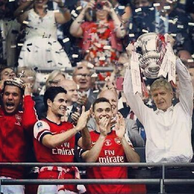 After waiting for 9 years going through financial constraints, key players leaving, building a new stadium, disapointments in the Champions League Final and the League Cup Final and major upsets in the league and having to settle for 4th spot and not to mention the countless amounts of jokes put on us we have finally lifted a trophy to put an end to this and start a new chapter on this historical day but to me today is all about Arsene Wenger and Arsenal this is a day i will never forget Champions Coyg Anewchapter