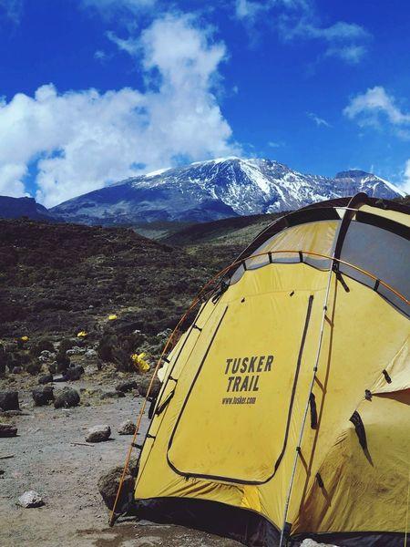DeLeonStrong on the approach to Kilimanjaro. Optoutside