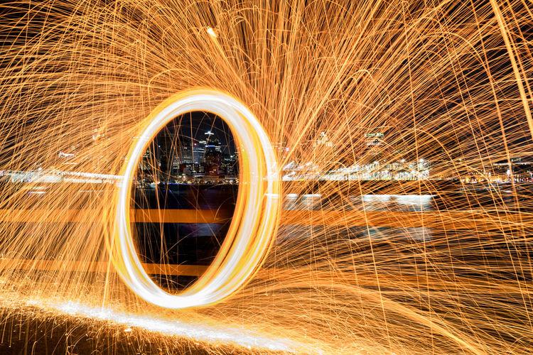 Blurred motion of light trails