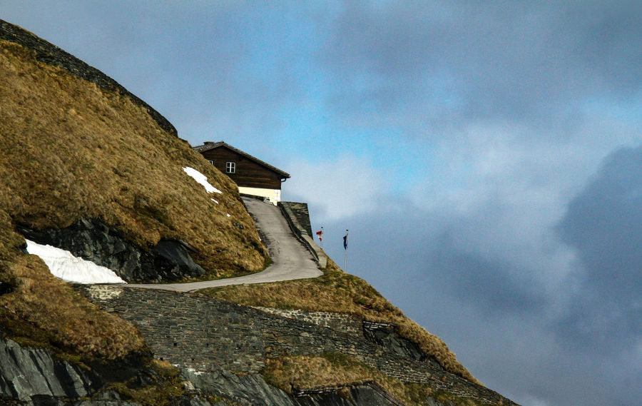Grossglockner Alps Austria Architecture Beauty In Nature Building Exterior Built Structure Cloud - Sky Day Grossglockner-hochalpenstrasse Low Angle View Mountain Nature No People Outdoors Sky Slope