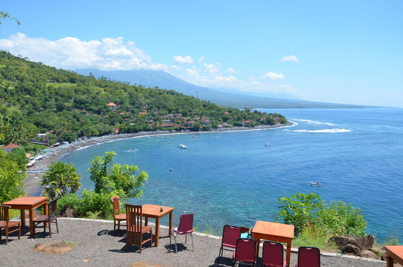 Amed beach Agushariantophotography Amed Beach , Bali Beach Blue Chair Cloud - Sky Coastline Horizon Over Water Idyllic Nature Outdoors Relaxation Sand Scenics Sea Sky Summer Sunlight Tourism Tranquil Scene Tranquility Travel Travel Destinations Vacations Water