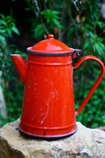 Close-up Day Focus On Foreground Nature Old Teapot Red Red Teapot Still Life Teapot Teapot Photography