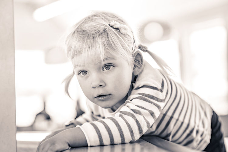 Blackandwhite Blond Hair Blonde Bw Child Childhood Children Only Cute Girl Lying Down