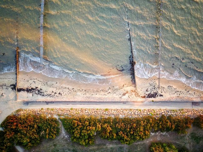 Nature Outdoors No People Sea Dronephotography Day Beauty In Nature Backgrounds Water Agriculture Plant Growth Scenics Close-up Beach France