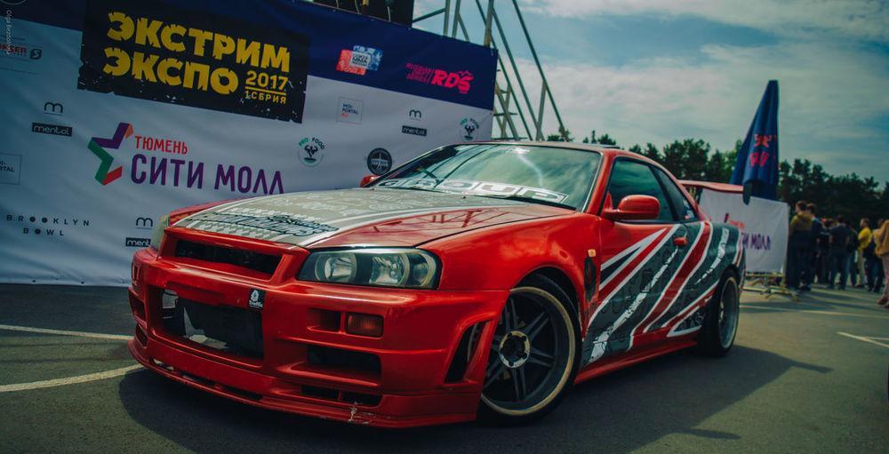 Car Red Sky Skyline R34 Nissan Skyline Nissan Jdm JDM Cars City EyeEm City Street EyeEm Best Shots EyeEm Gallery On Style Automotive Automotive Photography