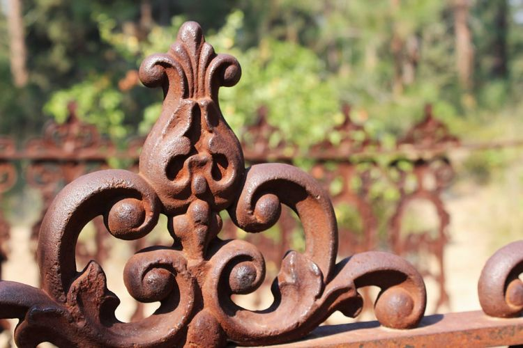 Metal Rusty Close-up Focus On Foreground Outdoors No People Wrought Iron Wrought Iron Design Wrought Iron Gates Graveyard Graveyard Beauty Idaho City