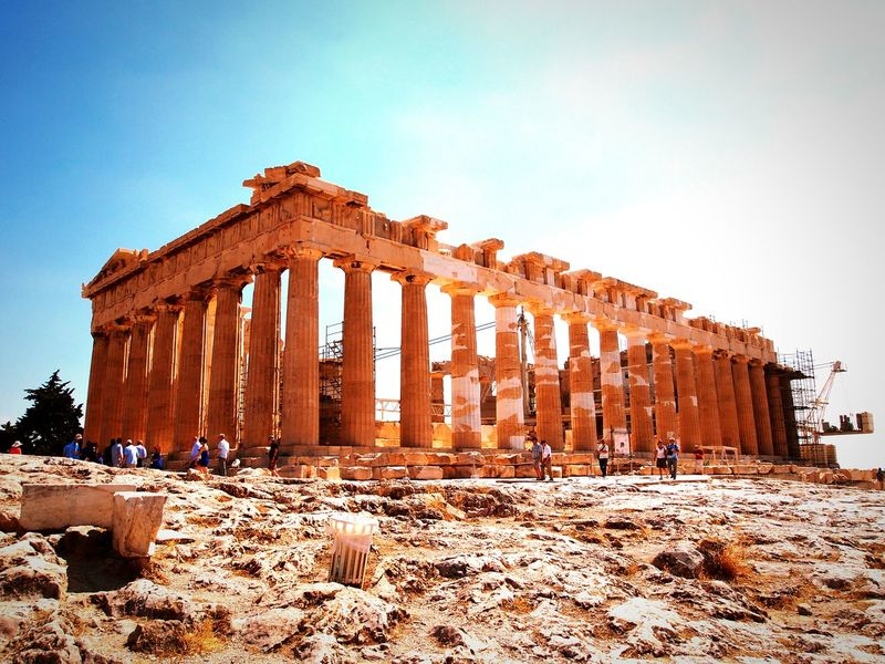 Parthenon! History Famous Place Archaeology Ancient Echoesofthepast Imagination Classic Ancient Greece Acropolis Parthenon Rocks Scenics Athens Stillness Marble Ruins Decadence Inspirations EyeEm Gallery Eyeemphotography Tourism Greece Columns Unesco World Heritage Battle Of The Cities