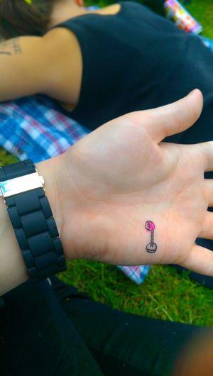 Art Doodle Grass Hand Handart Lamp Outside Pink Relaxing Summer Watch