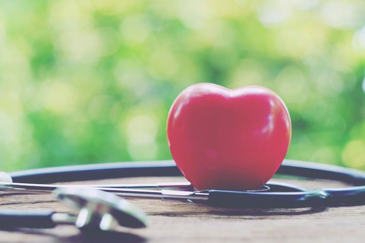 Red heart and stethoscope on old wood table Instrument Pressure Pulse Emergency Heartbeat Surgery Accident Medication Technology Patient Disease Doctor  Treatment Therapy Medical Pain Cardiology Cardiac Stethoscope  Cure Care Health Healthy Healthcare Medicine