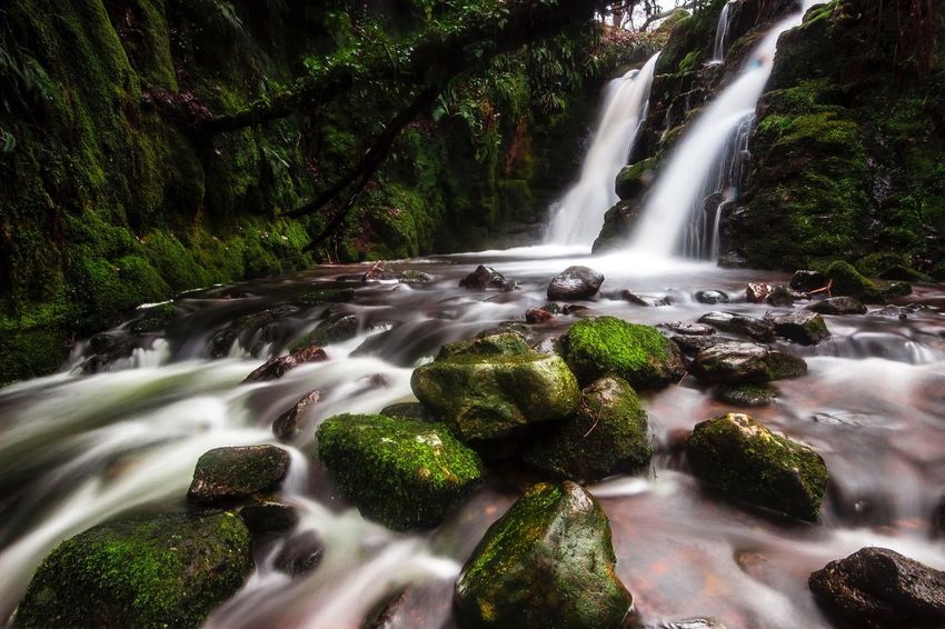 A nice liitle long exposure of s small twin waterfall Waterfall Motion Long Exposure Water Blurred Motion Nature Beauty In Nature Flowing Water Environment No People Outdoors Tranquility EyeEmNewHere