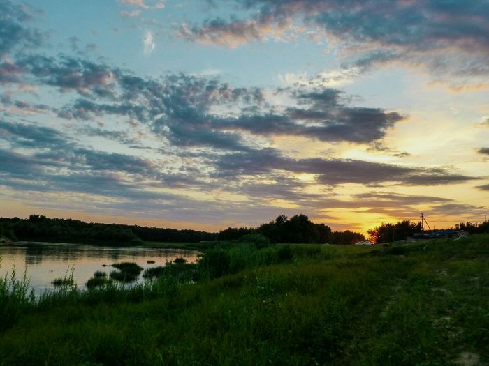 Sky Nature Beauty In Nature No People River Kharabali Russia Sunset Summer