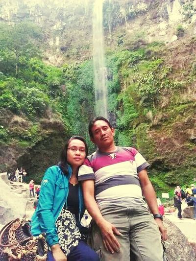 Kesejukan air terjun coban rondo Two People Nature Love Cobanrondowaterfall Waterfall Malang Damai Localtourism Happines Romantic