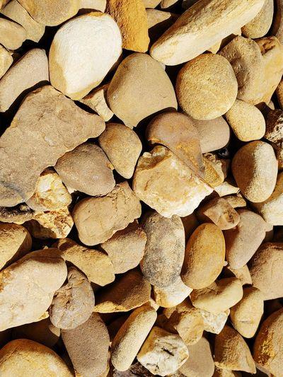 Stones Sand Stone Bed Rock Boarder Flower Beds Sidewalk Border Backgrounds Full Frame Heap Timber Close-up