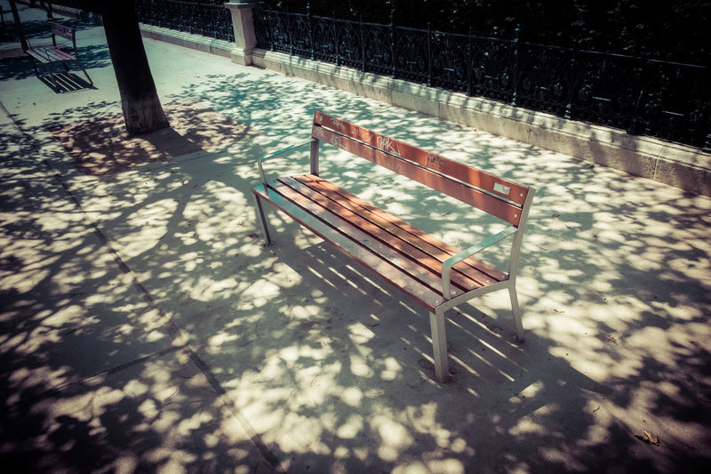 Day Leading Lines Nature No People Outdoors Park Bench Public Bench Public Places Railing Shadow Shady Shady Trees Tree Winter