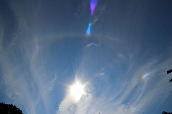Corona Sun Dog Blue Sky Whispy Clouds Sun Sun_collection Amazing Nature Nature_collection