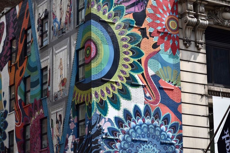 100 Days Of Summer Multi Colored Nikon New York New York City Building Exterior Street Art City Graffiti D5500