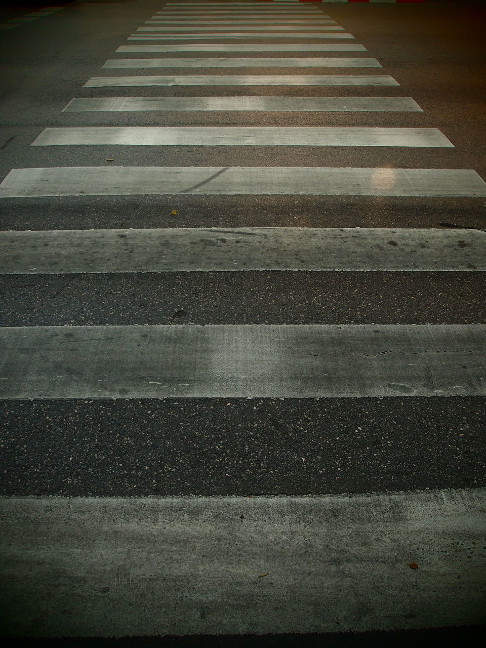 zebra crossing, road marking, striped, transportation, asphalt, road, white line, outdoors, day, backgrounds, no people, line, city, nature