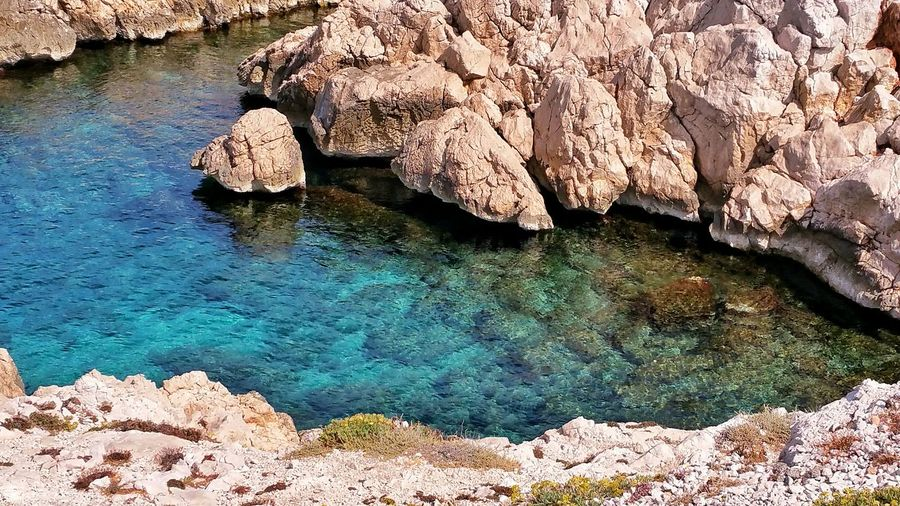 Que Du Bonheur Calanques  Marseille France Seascape Mediterannee