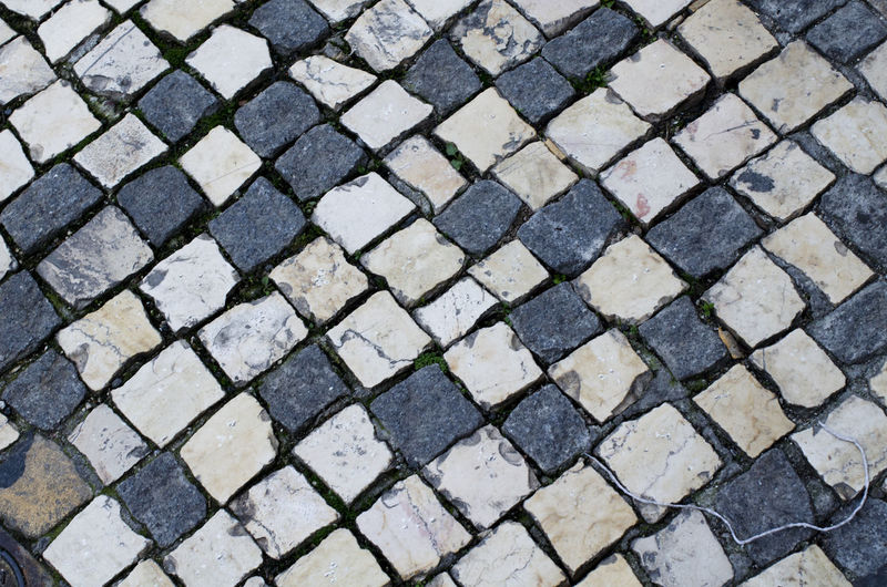 Full frame shot of cobbled street