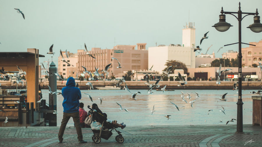 Al Ghubaiba Water Taxi station Canon 77d | 50mm 1.8 lens Dubai MyDubai ❤ Architecture Building Exterior Built Structure City Clear Sky Day Domestic Animals Full Length Ghubaiba Mammal Men Nature One Animal One Person Outdoors People Pets Real People Sky Street Streetphotography Water