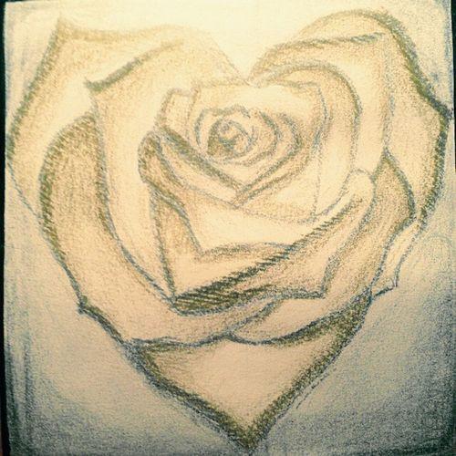 Rose♥ Paint Artist Beautiful Handmade Art, Drawing, Creativity