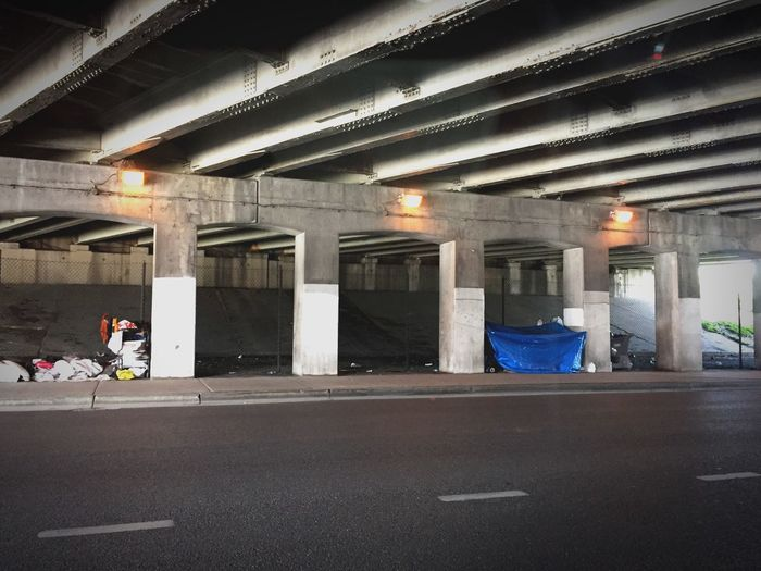 Homeless population in Chicago. Huge issue that's not being solved. At all. Homeless Homelessness  City Chicago Faketowns Shelter Underthehighway North Avenue