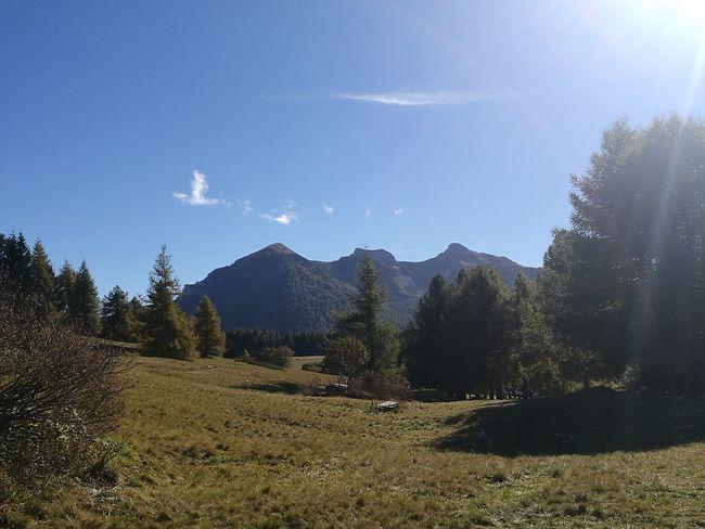 Le 3 cime del Bondone Mountain Tranquil Scene Mountain Range Sky Blue Outdoors Green Color Nature Solitude Scenics