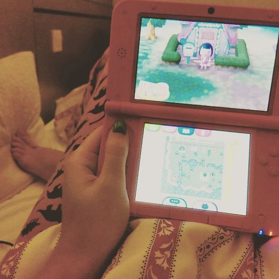 Animalcrossing in bed Perfect Gaming Nighttime Sleepy Nintendo3dsxl Nintendo Wildworld