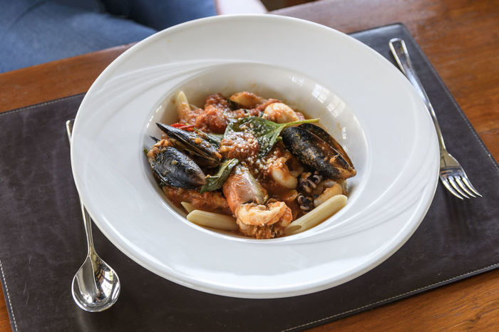Seafood pasta Mussels Food And Drink Seafood Pasta