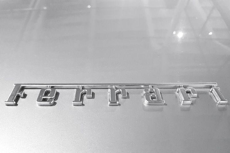 Garage Photography Garage Ferrari Logo Ferrari Scuderia Ferrari Classic Car Collector's Car Blackandwhite Black & White Monochrome Monochrome Photography EyeEm Best Shots EyeEm Gallery EyeEm Selects EyeEm Best Shots - Black + White Product Photography Luxury Sportscar No People Indoors  Close-up