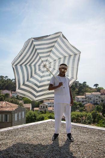 «Ready for summer» / Samuel The Fashion Photographer - 2018 EyeEm Awards Portrait Looking At Camera Umbrella Cloud - Sky