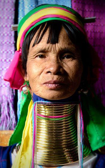 Woman of the longneck tribe Myanmar Travel Tradition Longneck