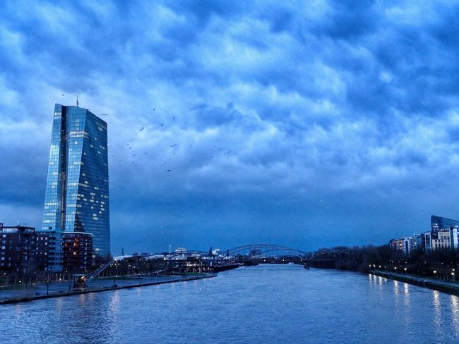 Architecture Frankfurt Am Main Sunrise Stormysky Europeancentralbank Architecture Sky Built Structure Building Exterior Cloud - Sky Skyscraper City River Waterfront Travel Destinations Water Modern Outdoors Bridge - Man Made Structure No People Cityscape Day Illuminated Nature Storm Cloud