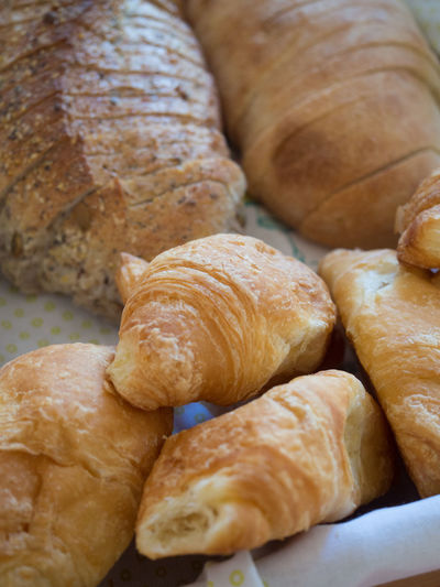 Fresh croissants and bread Freshly Baked Baked Bread Croissant Food Food And Drink Fresh Bread Freshness Ready-to-eat