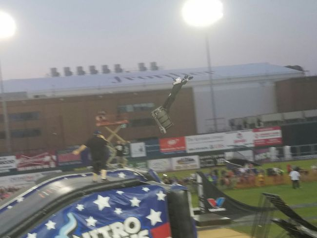 Dirt Bike City Life Action Shot  Fmxrider Nitrocircuslive Person Lifestyles Illuminated Outdoors