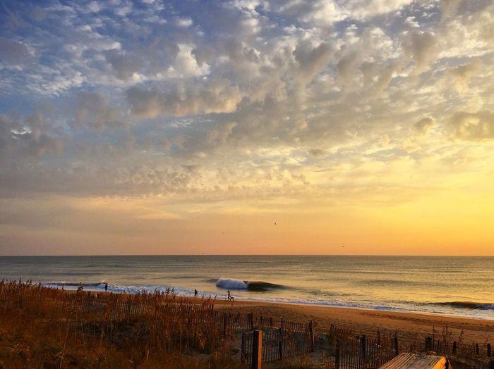 OBX Sunrise Beach Dramatic Sky Beach Life