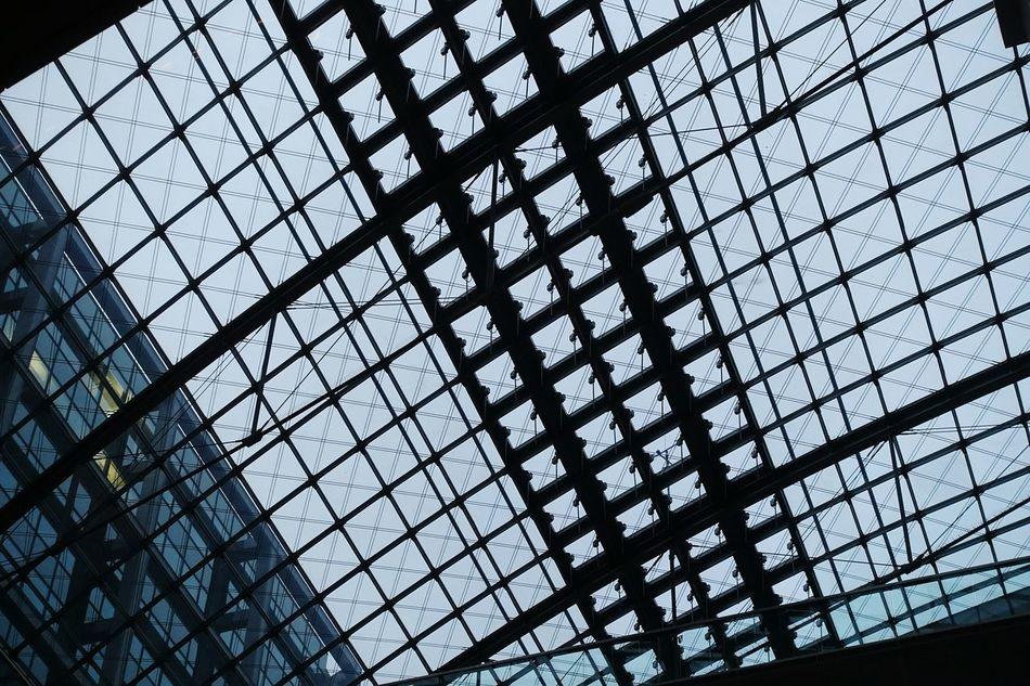 Pattern Pieces Ceiling Station Berlin Hauptbahnhof Hauptbahnhof Berlin Taking Photos Roof Glass