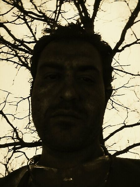 Antiselfie Human Face Bare Tree Bored At Work Damned Casuality