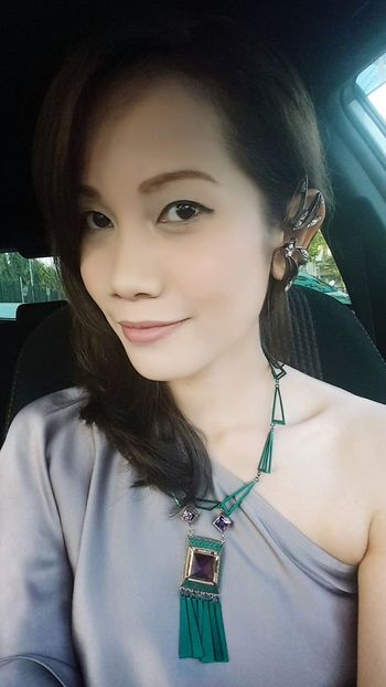 I am in Thai style dress with Pilantha accessories. Gramoftheday Thaistyle Thaidressup That's Me Selfie Mydesign