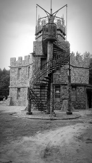 Zamek  Piękny Naturalne Blackandwhite Duży